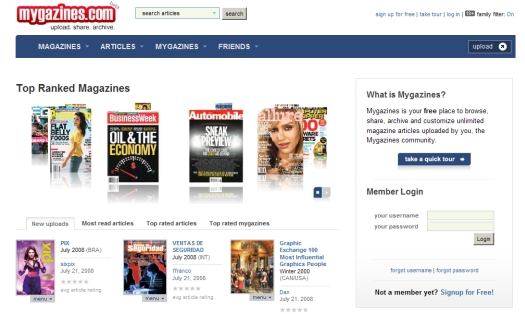 Mygazines: Read Any Magazine Online For Free |
