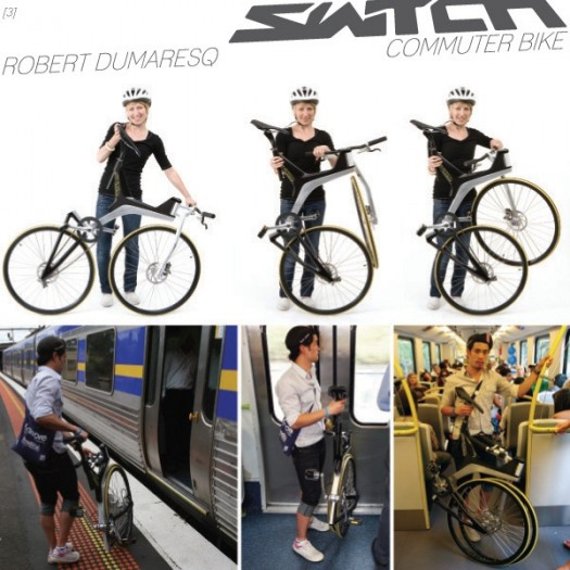 Switch Commuter Bike Folds Up to Wheel Size