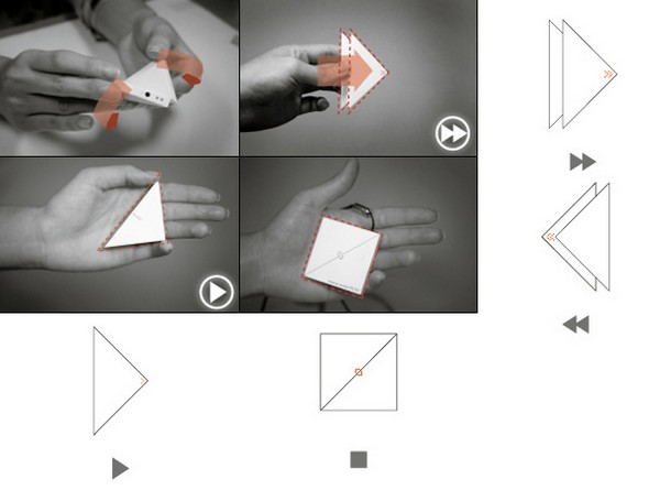 Fold To Play: The Origami MP3 Player Concept