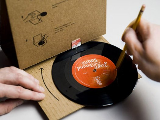 Cardboard Package Doubles Up As Record Player