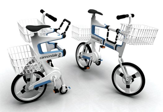 Bicycle Folds Into A Shopping Cart 1