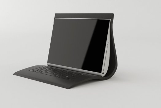 Flexible Laptop Encloses The Keyboard And Screen In A Single Shell 1