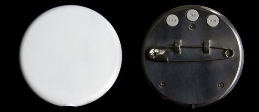 Musical Record In A Classic Button Pin Shape 2