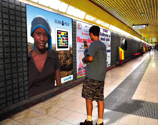 scan and help-mobile tagging-posters-unicef-children