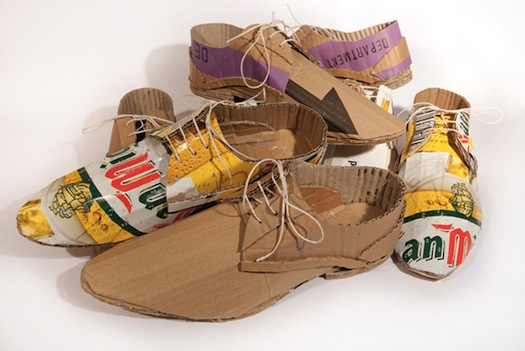 Creative Shoes Made From Recycled Beer Packaging [Pics]  