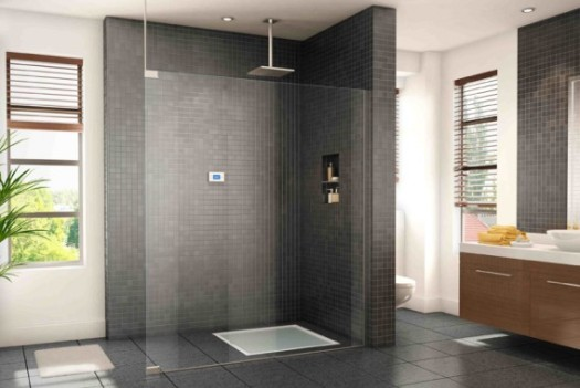 smart shower recycles water to save energy and money. Black Bedroom Furniture Sets. Home Design Ideas