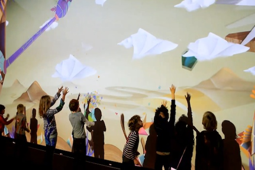 Kinect interactive wall projection