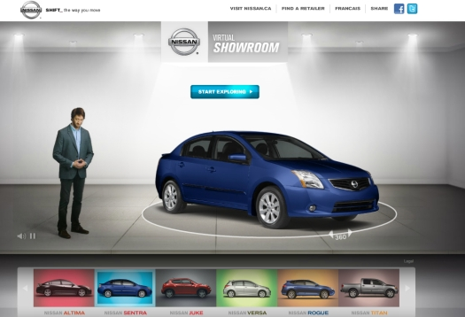 Nissan Highlights Its Vehicles In A Virtual YouTube Showroom