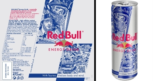 Special Edition Red Bull Can Design Featuring Travis Pastrana