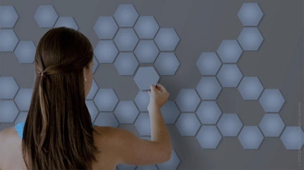 Instead Of Lighting A Room From The Ceiling, These Wall Decals Provide Ambient Light