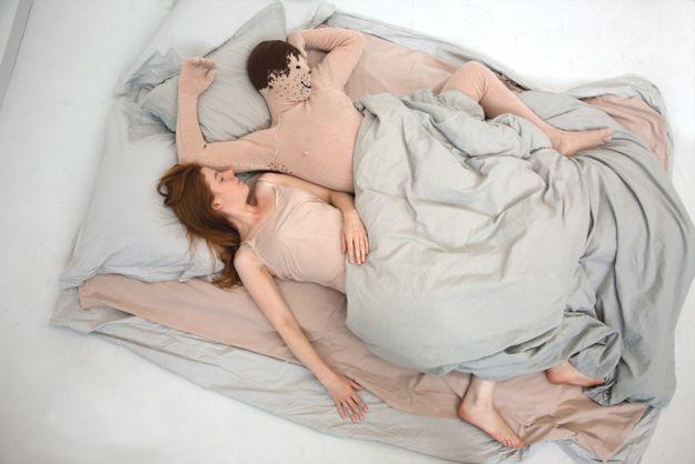 A Knitted Man-Sized Boyfriend Cushion