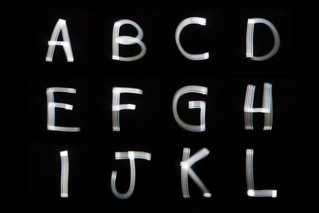 Font Created By The Light Emitted From An iPhone |