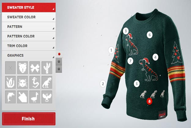 Custom Christmas Sweaters.Coca Cola Helps Fans Create Custom Tacky Christmas Sweaters