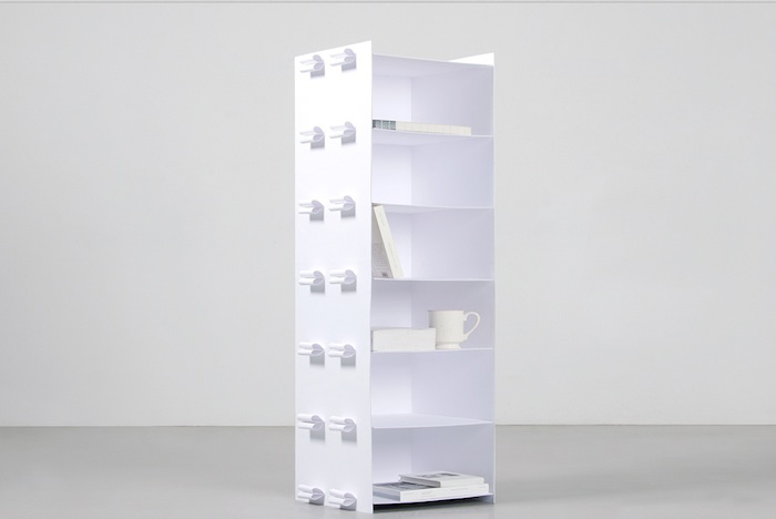 Artist Willy Chong Has Pushed The Envelope To Create A Unique Project Inspired By His Chinese And Swedish Roots Shelf Made Entirely Of Laminated Paper