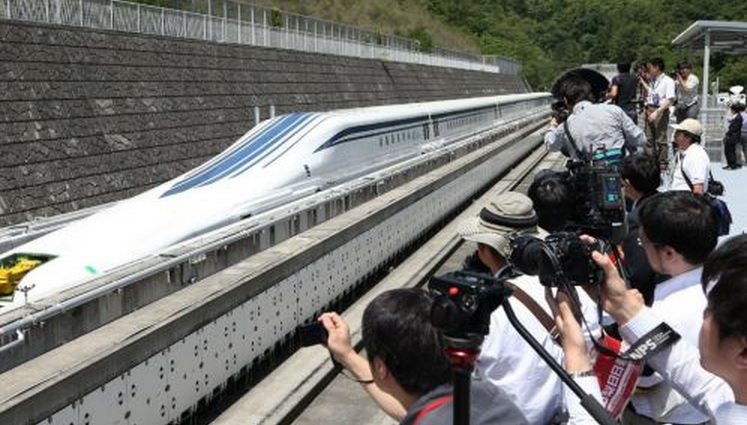 Japan's Magnetically Levitating Train Tops 300 MPH