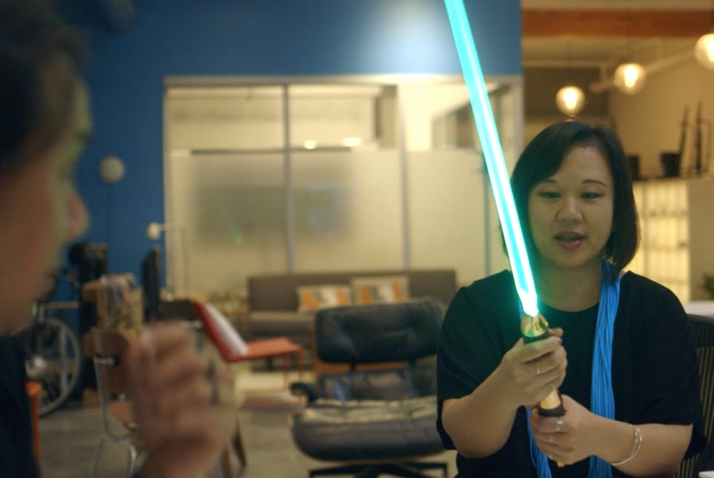 Designers Get Their Hands on Star Wars Lightsabers