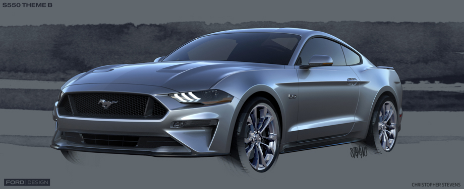 Mustang vehicle engineering manager ford mustang buyers crave looks 2018 ford mustang design sketch 10g malvernweather Image collections