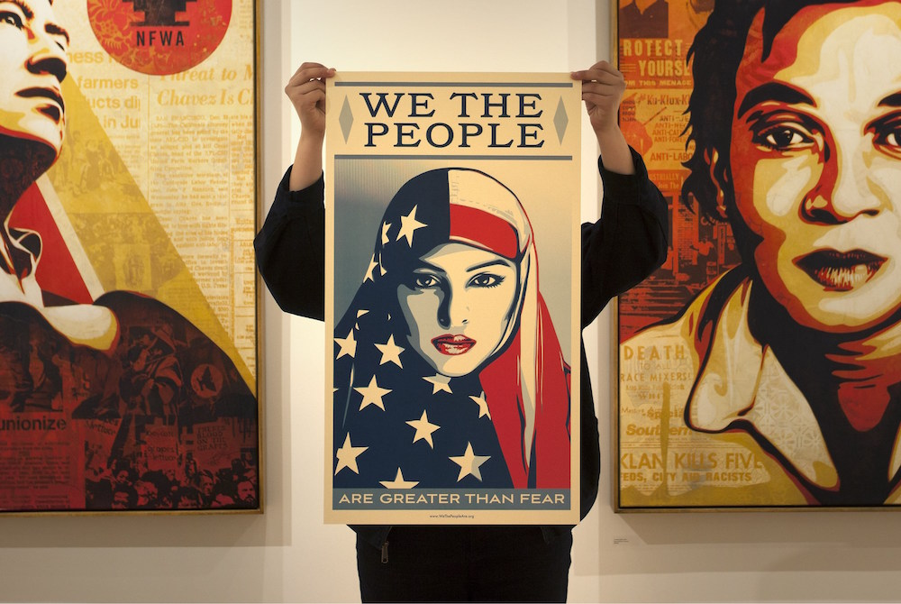 Obama 'Hope' Artist Creates A New Set Of Posters On Diversity And American Identity
