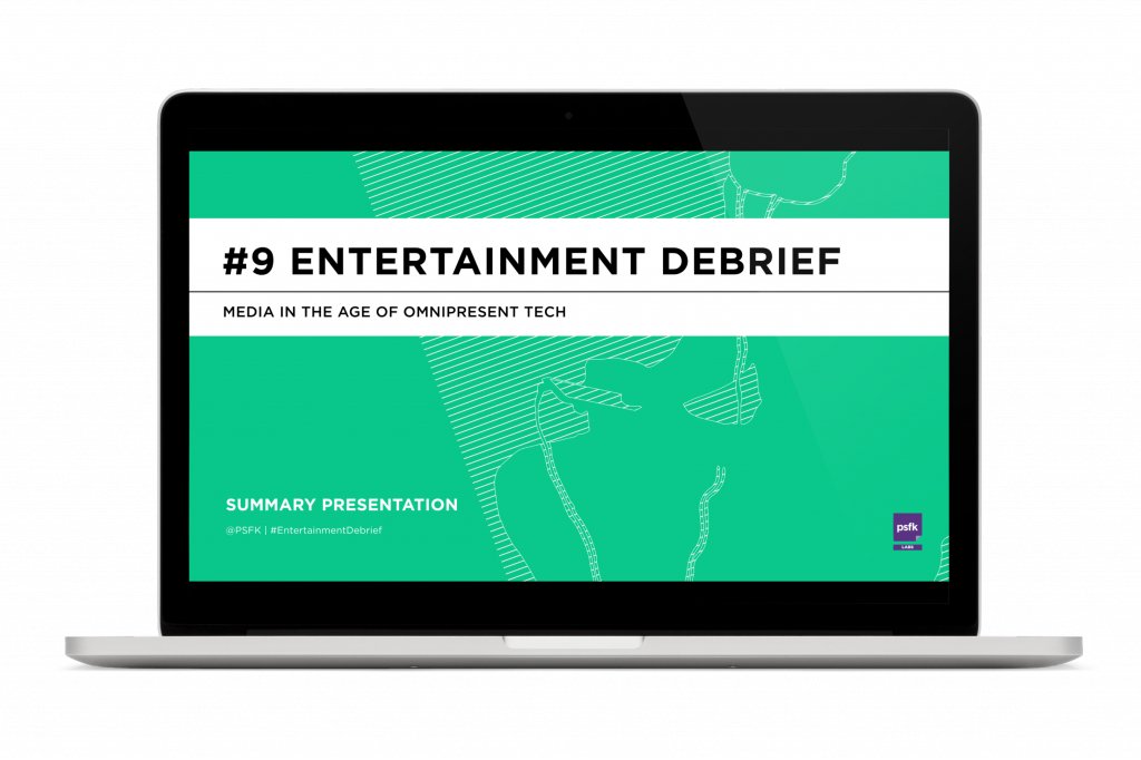 PSFK Launches The Entertainment Debrief
