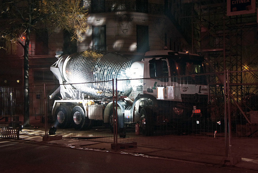 Disco Ball Cement Mixer Invites Bystanders To Dance Around Construction Sites
