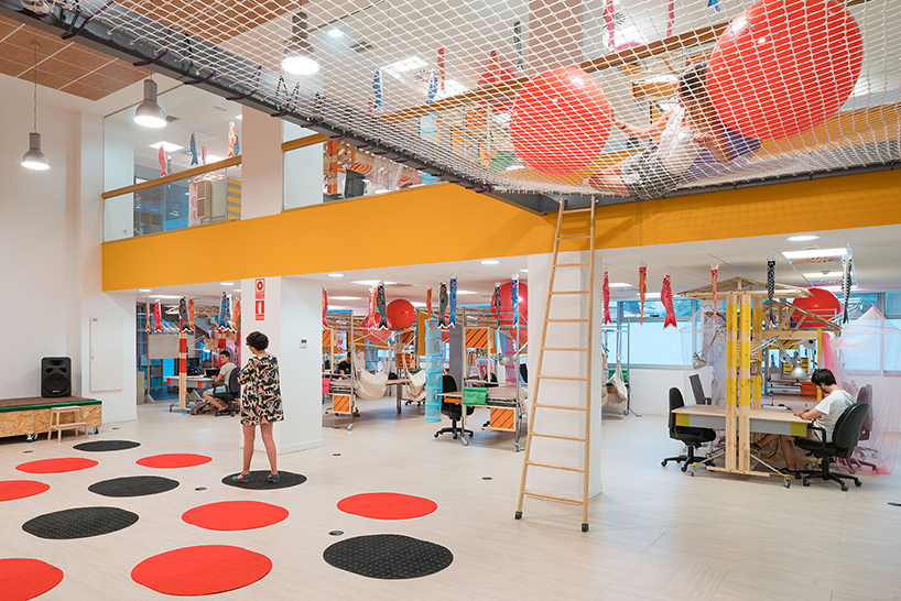 Designer Repurposes IKEA Furniture For A Playful Co-Working Space