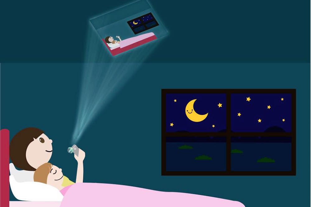Phone Attachment Projects Bedtime Stories Onto Walls And Ceilings