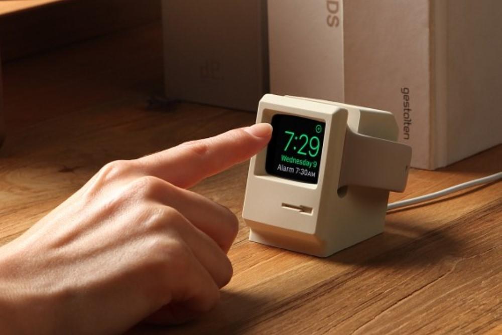 Apple Watch Stand Looks Like A Retro Mac Monitor