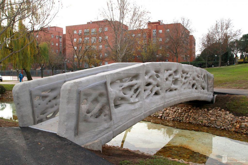 World's First 3D Printed Bridge Debuts In A Park In Spain