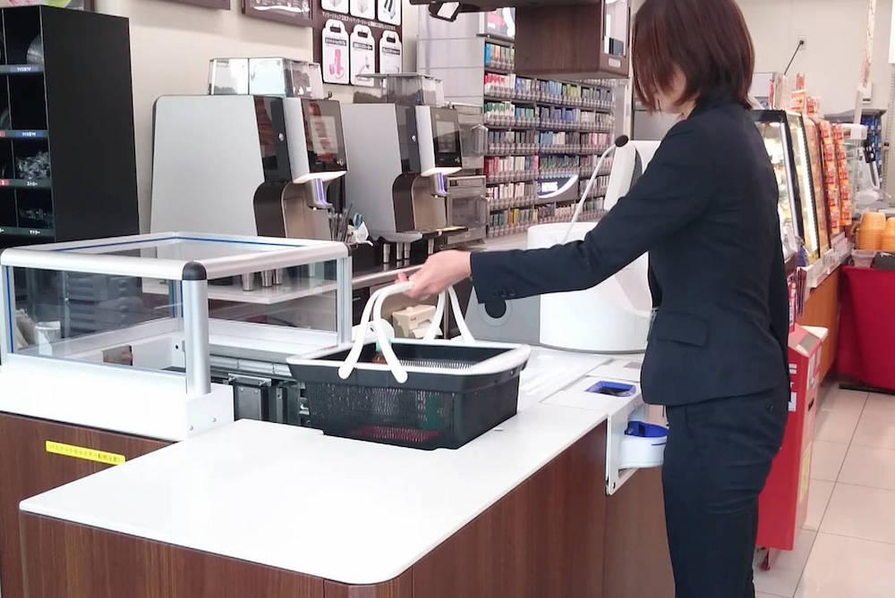 Panasonic Checkout Machine Automatically Bags Items
