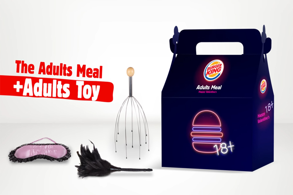 Burger King Gets Mildly Risqué With An Adult-Themed Meal