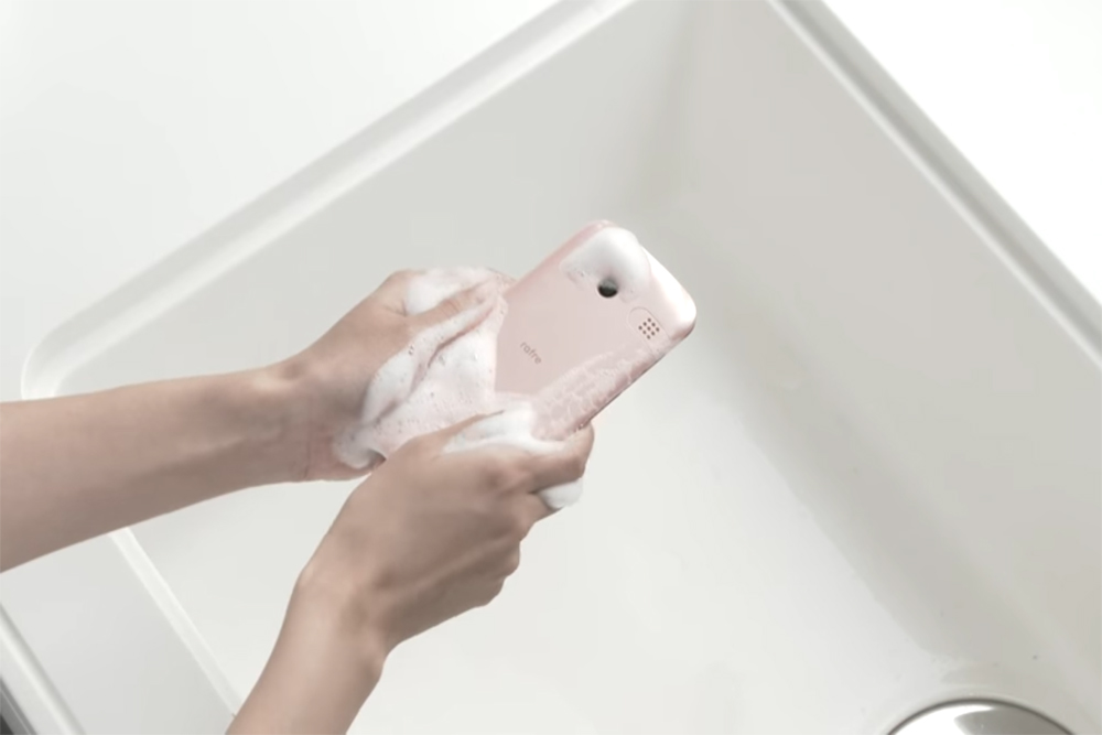 This Phone Can Be Washed Using Soap And Water