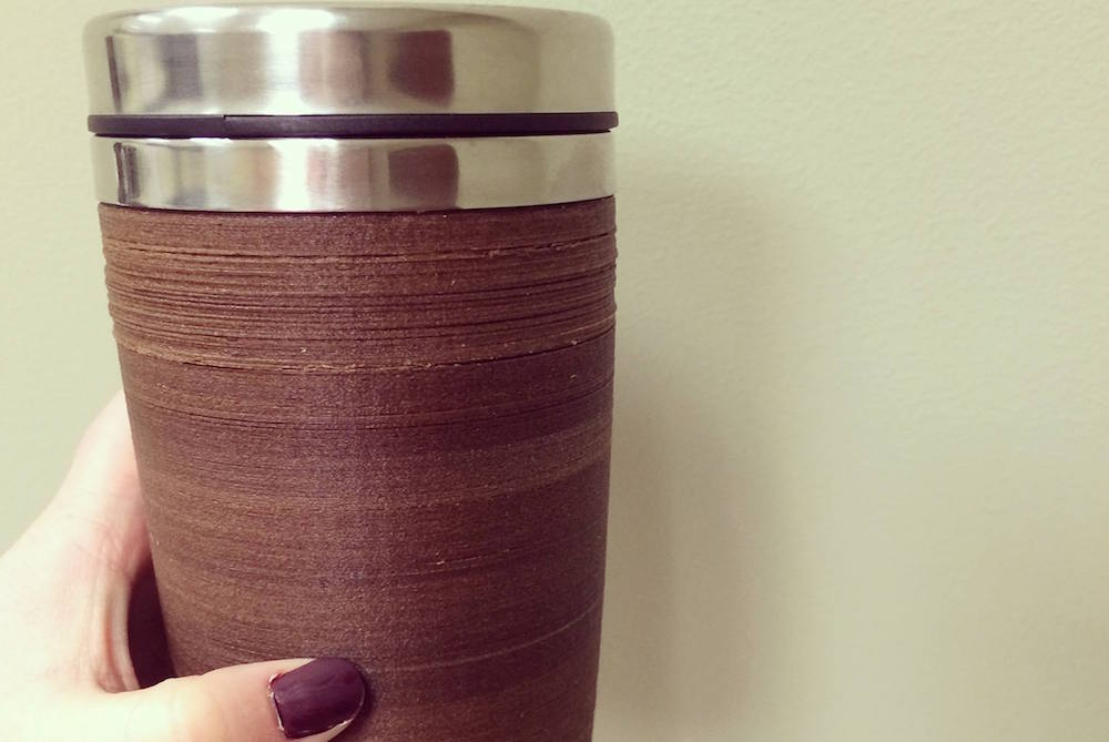 Coffee Cup Made Out Of Discarded Coffee Grounds