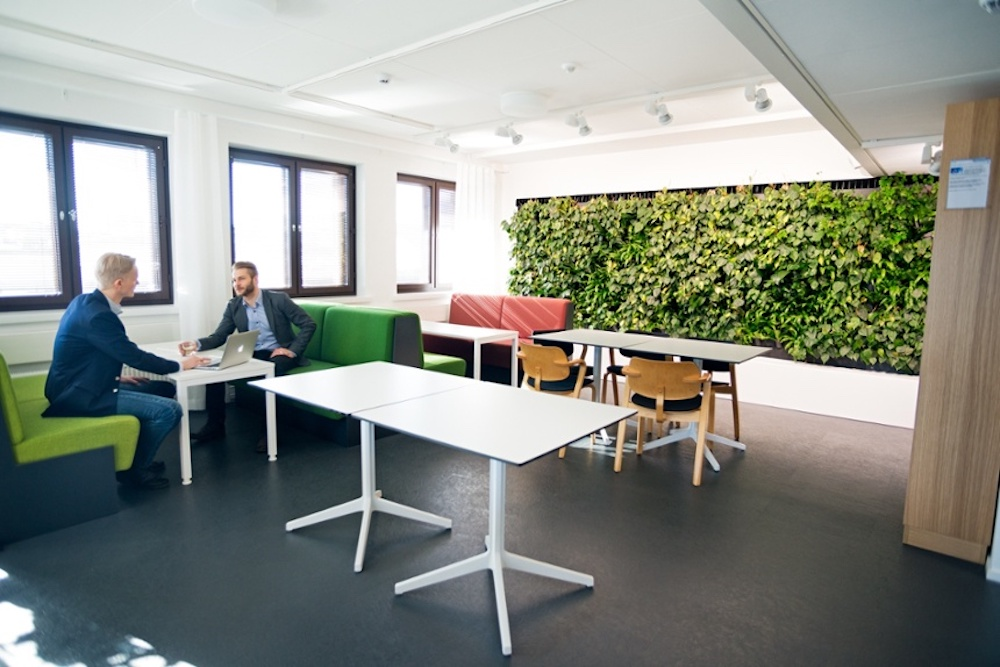 Wall Plant Array Purifies The Air Indoors