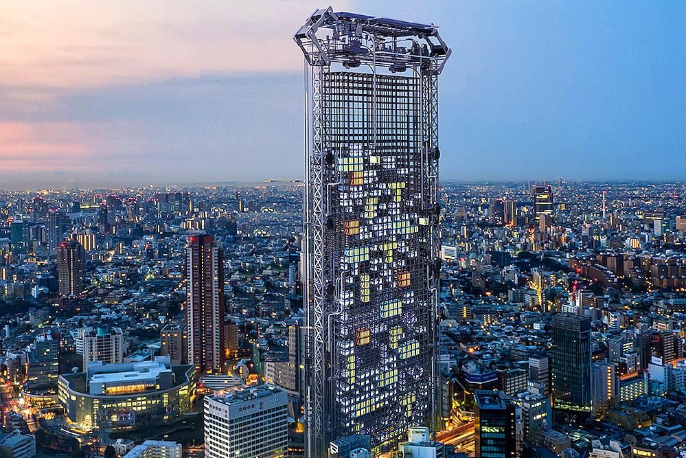 Tokyo's Vending Machine Skyscraper Dispenses 3D-Printed Homes