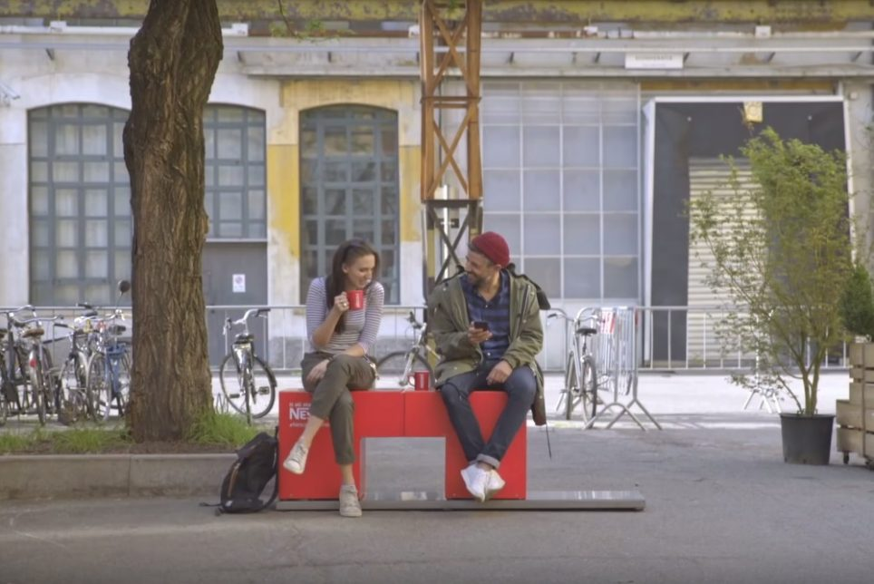 Nescafé Bench Brings People Together Over A Coffee