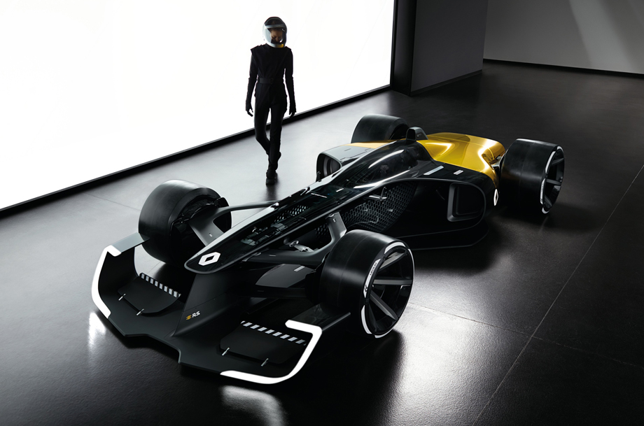 Renault's Formula One Concept Car Exposes Driver Within 3D-Printed Bubble