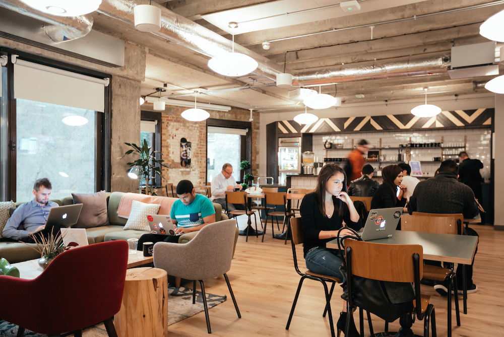 Wework wants to help design build and run your office for you for Office design help