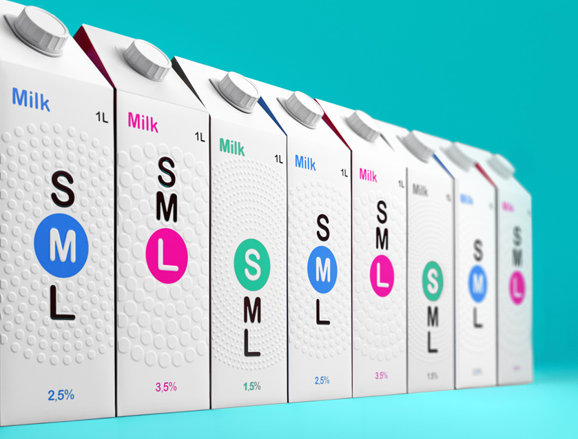Milk Packaging Uses Clothing Sizes To Show Fat Content