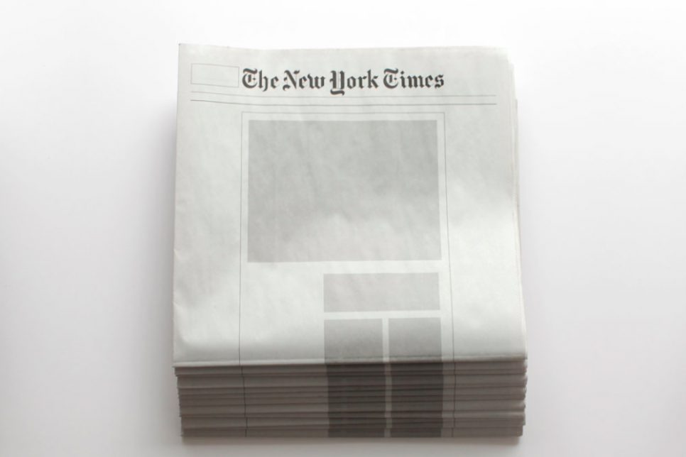 Empty Newspapers Challenge A World Overflowing With Information