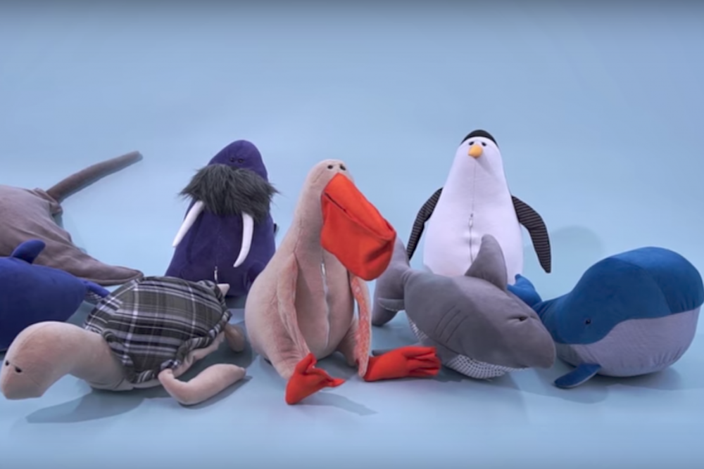 Plush Toys Teach Kids About Sea Pollution
