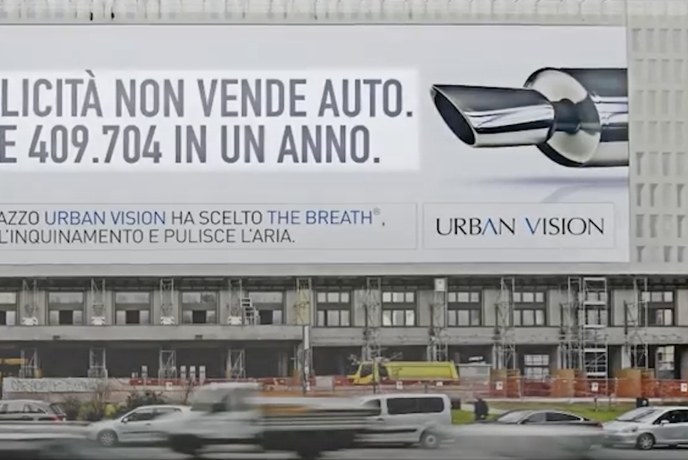 This Billboard Ad Actually Helps Eliminate Air Pollution