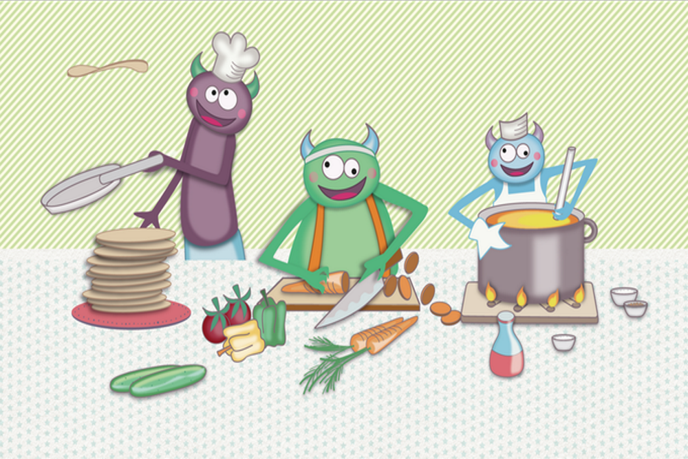 Cartoon Characters Encourage Kids To Make Healthy Eating Choices