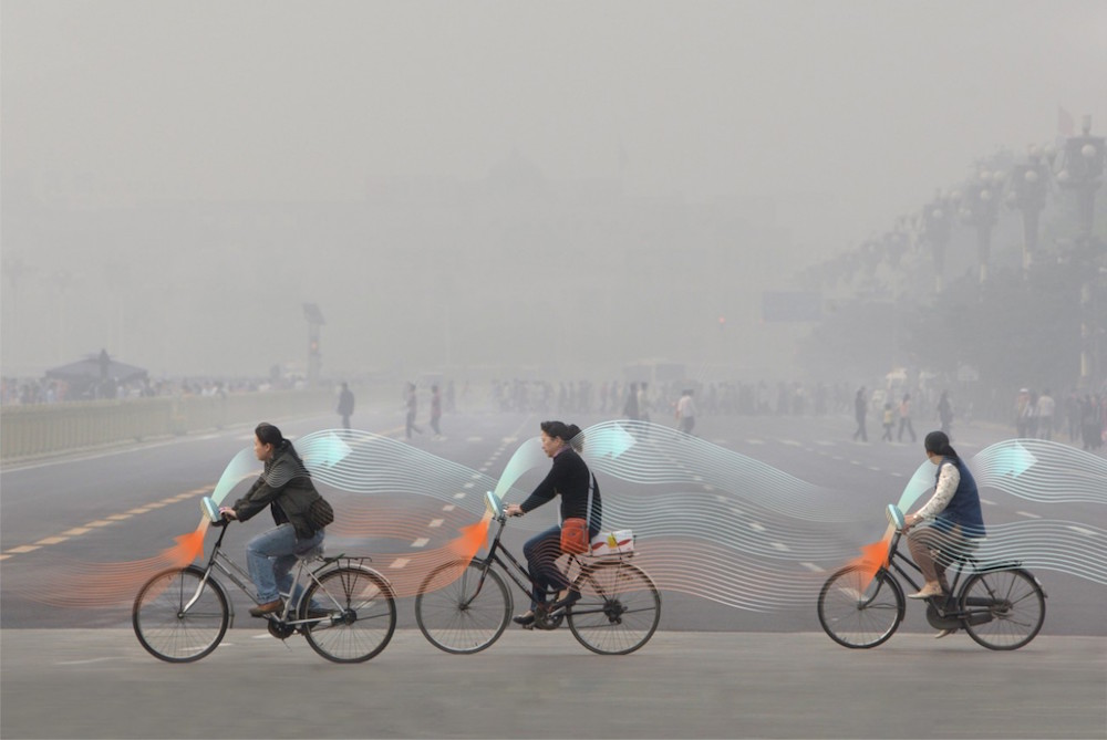 Filter Polluted Air Just By Riding A Bike