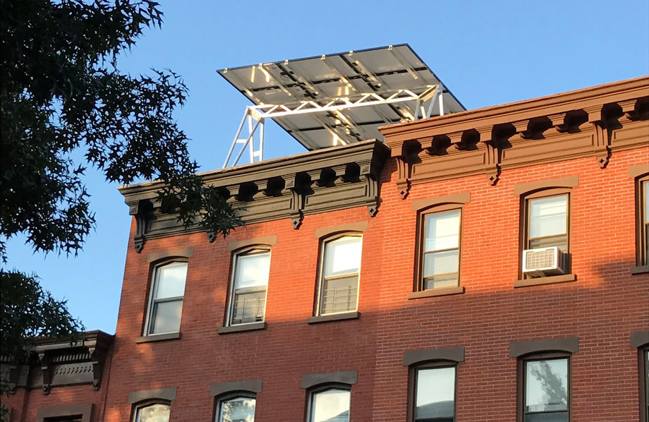 Urban Solar Panel Project Creates Rooftop Living Spaces