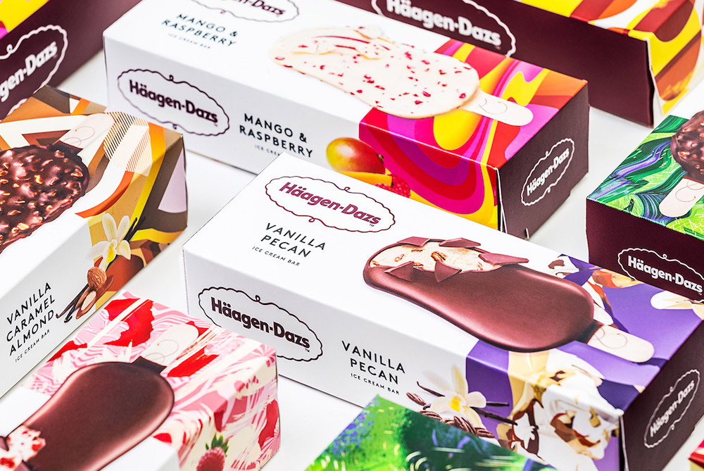 Häagen-Dazs Rebrand Unveils Eye-Catching And Colorful Packaging