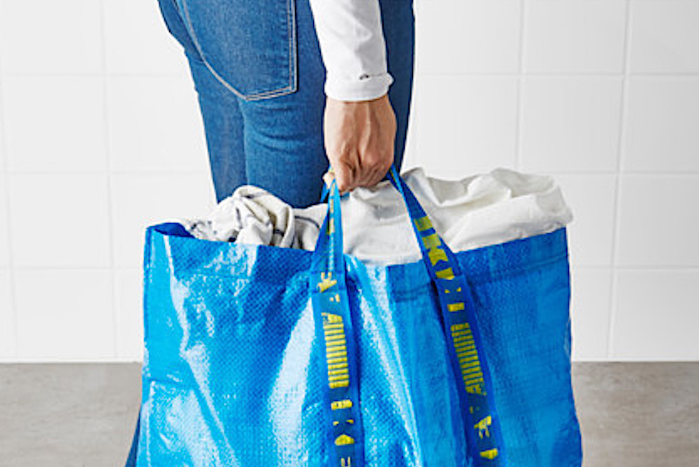 IKEA's Iconic Bag Transformed Into Garments And Accessories