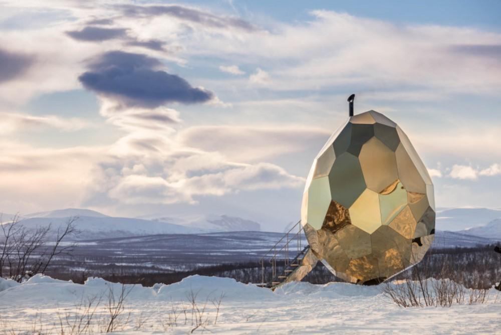 Solar Egg Sauna Provides Warmth In A Cold Swedish Town