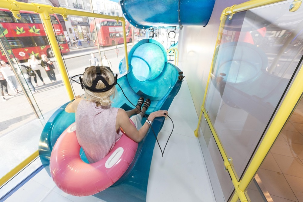 Topshop's Oxford Street Store Features A VR Slide