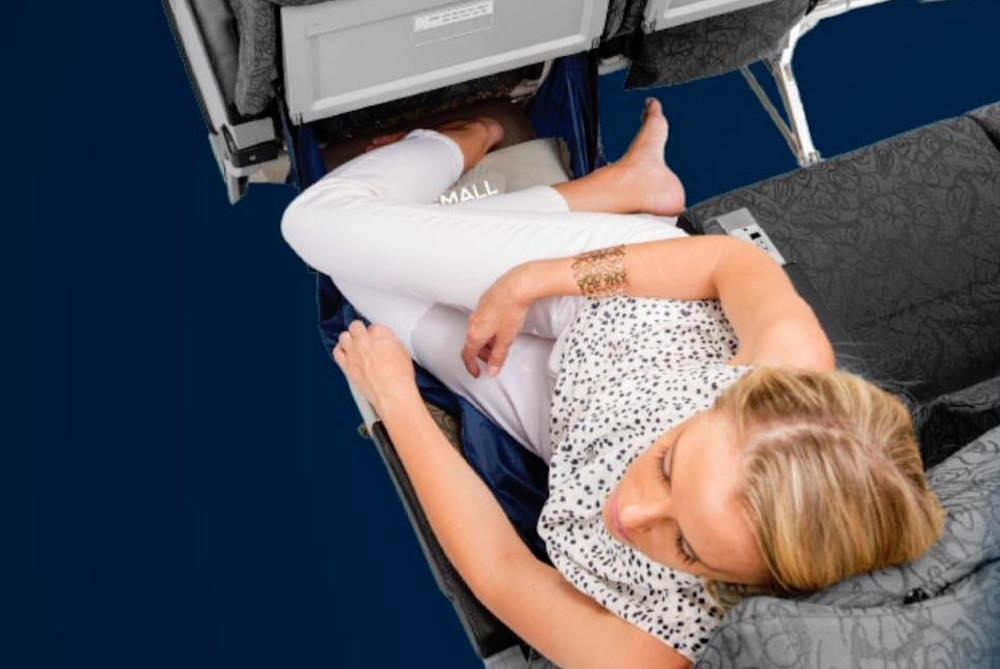 Can't Sleep On Flights? Now You Can With A Leg Hammock