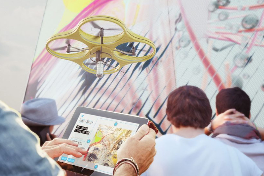 Drone Painting System Breathes Life Into Crowdsourced Graffiti